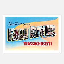 Fall River Massachusetts Greetings Postcards (Pack