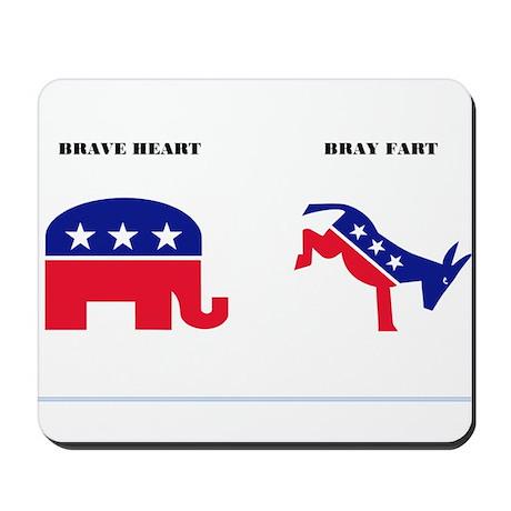 Brave Heart - Bray Fart Mousepad