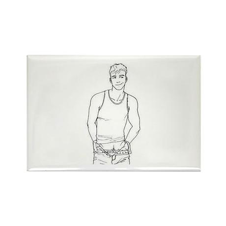 boy sketch Magnets