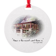 Home is the Nicest Word Round Ornament