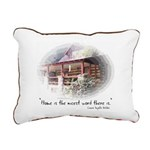 Home is the Nicest Word Rectangular Canvas Pillow