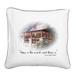 Home is the Nicest Word Square Canvas Pillow