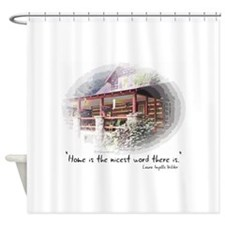 Home is the Nicest Word Shower Curtain