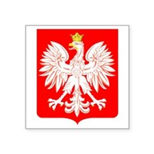 Polish Eagle Shield Rectangle Sticker