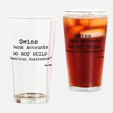 Swiss Bank Accounts Drinking Glass