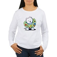 Westie Wreath T-Shirt