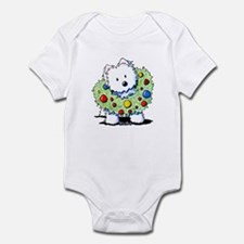 Westie Wreath Infant Bodysuit