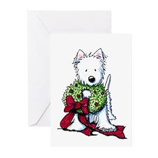 Westie Wreath Greeting Cards (Pk of 10)