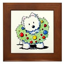 Westie Wreath Framed Tile