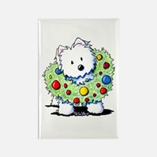 Westie Wreath Rectangle Magnet
