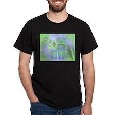 Nurse's Appreciation Scrubs Print Black T-Shirt