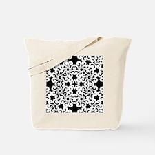 Black & White Lace Tile Tote Bag