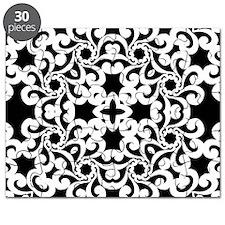 Black & White Lace Tile Puzzle