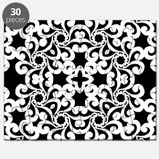 Black & White Lace Tile Puzzle