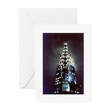 Chrysler Building: Night Greeting Card