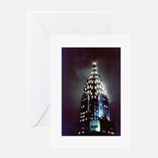 Chrysler Building: Night Greeting Card