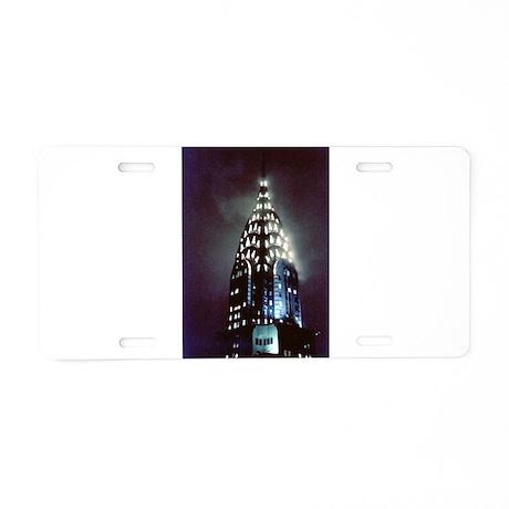 Chrysler Building: Night Aluminum License Plate