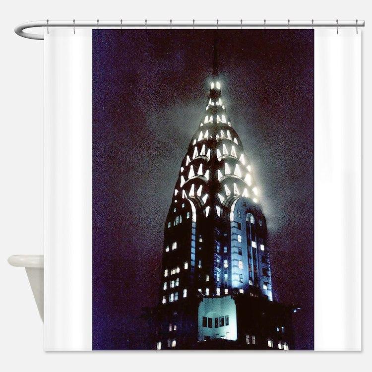 Chrysler Building: Night Shower Curtain