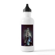 Chrysler Building: Night Water Bottle