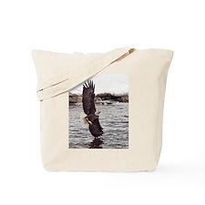 Vertical Eagle Tote Bag