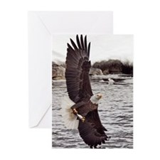 Vertical Eagle Greeting Cards (Pk of 20)