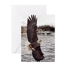 Vertical Eagle Greeting Card