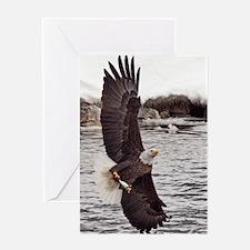 Vertical Eagle Greeting Card
