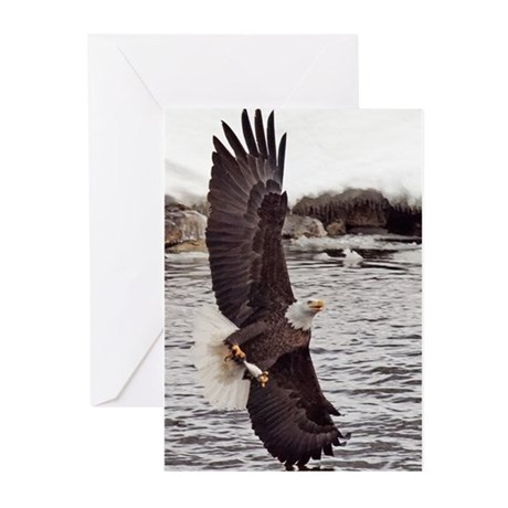 Vertical Eagle Greeting Cards (Pk of 10)