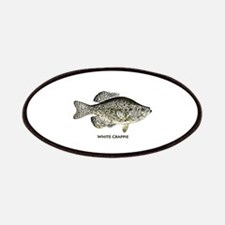 White Crappie Logo Patches