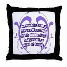 Crunchy Family Throw Pillow