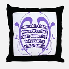 Crunchy Family Throw Pillow