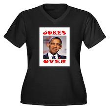 BAD JOKE Women's Plus Size V-Neck Dark T-Shirt
