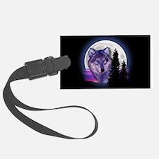 Moon Wolf Luggage Tag