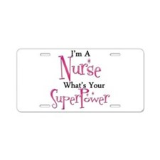 Super Nurse Aluminum License Plate