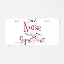 Super Nurse Aluminum License Plate