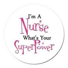 Super Nurse Round Car Magnet