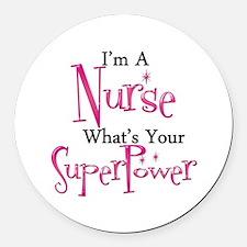Super Nurse Round Car Magnet