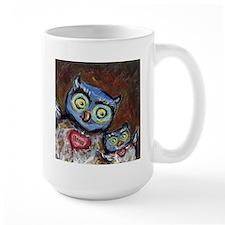blue momma love hearts baby Mug