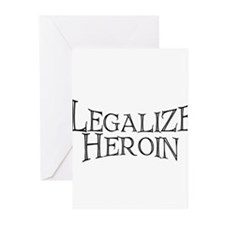 Legalize Heroin!   Greeting Cards (Pk of 10)