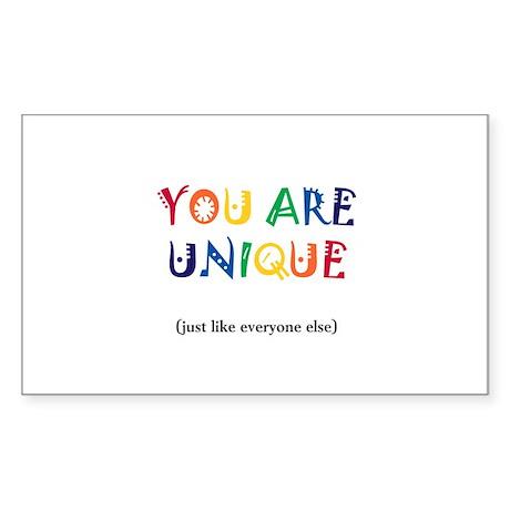 You are Unique Sticker