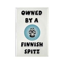 Owned by a Finn Spitz Rectangle Magnet (100 pack)