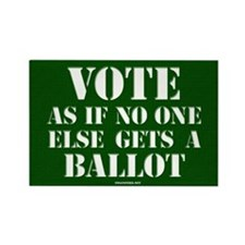 VOTE as if no one else gets a ballot - Rectangle M