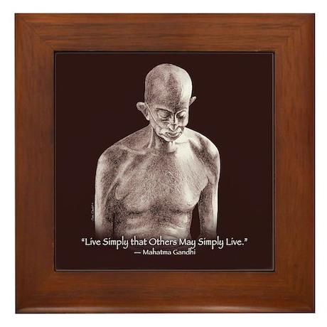 Mahatma Gandhii Framed Tile