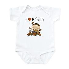 Autumn Boy I Love Babcia Infant Bodysuit