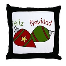Feliz Navidad Ornament Throw Pillow