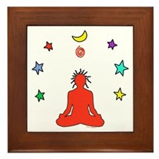 Yogi Electric (red) Framed Tile
