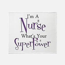 Super Nurse Throw Blanket