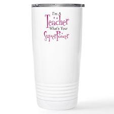 Funny Teacher Stainless Steel Travel Mug