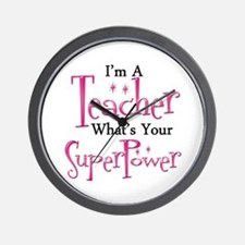 Super Teacher Wall Clock