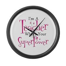 Super Teacher Large Wall Clock